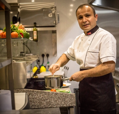 Mustafa Kemal, head chef at The Olive House